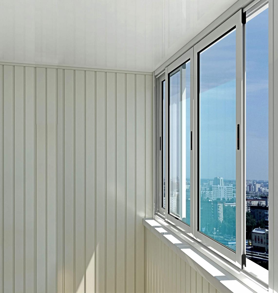Остекление балкона provedal c640 раздвижные.